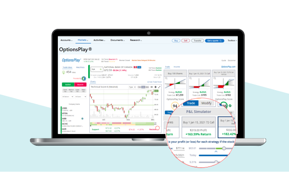 Screenshot of the new platform and how you can check stock market fluctuations